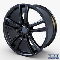 style 303 wheel black 3d max