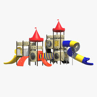 kids castle playground 3d max