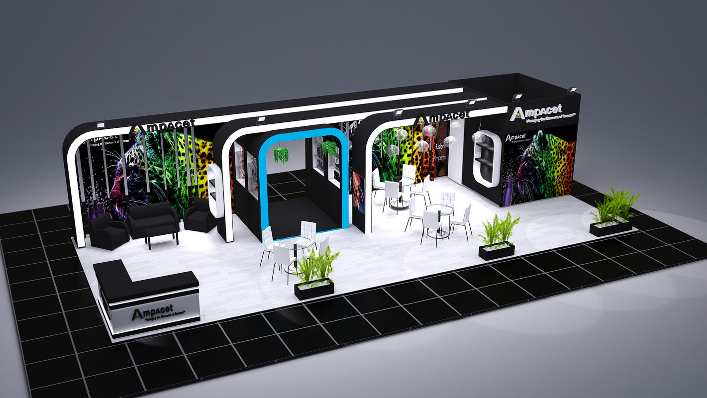 Exhibition Stand Design 3d Max : Exhibition stand d max