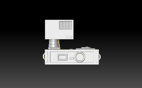 3d old fashioned camera