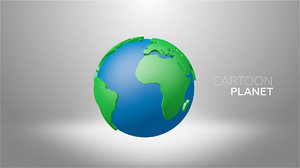 3d planet cartoon toon model