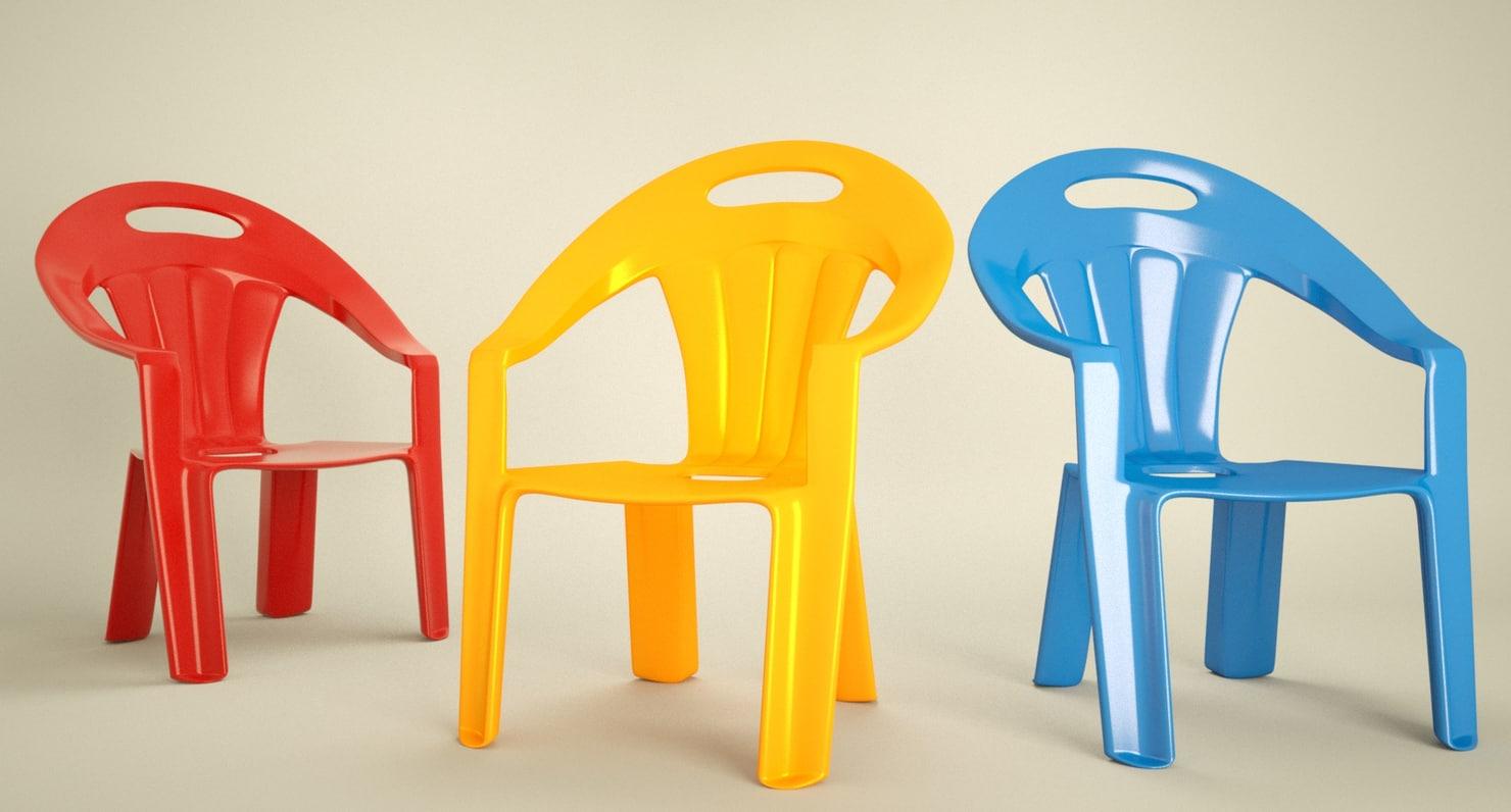 seat plastic 3d max