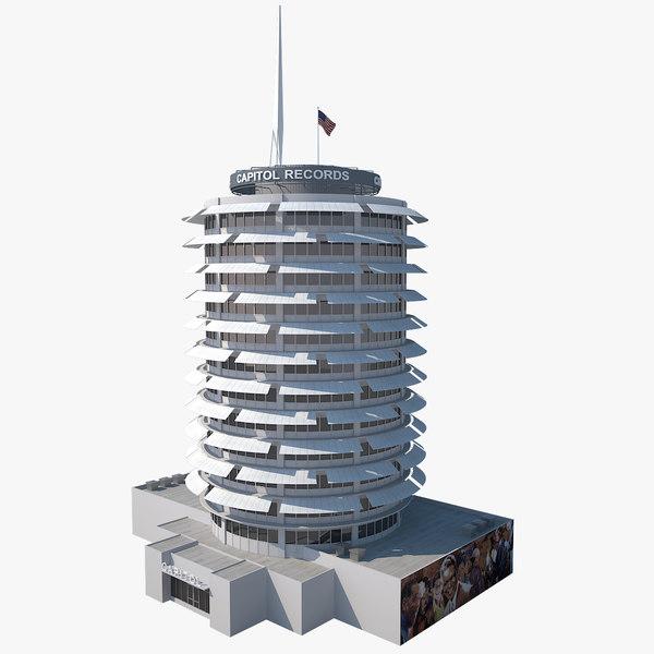 3d capitol records building