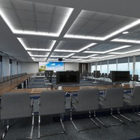 3d model conference hall interior