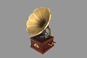 gramaphone 3d model