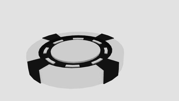poker chip 3d obj