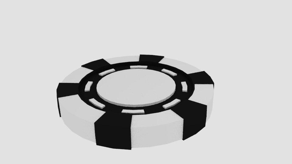 poker chip 2 3d model
