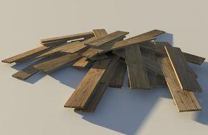 wood planks 3d 3ds