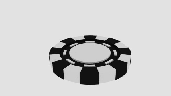 3d model poker chip 3