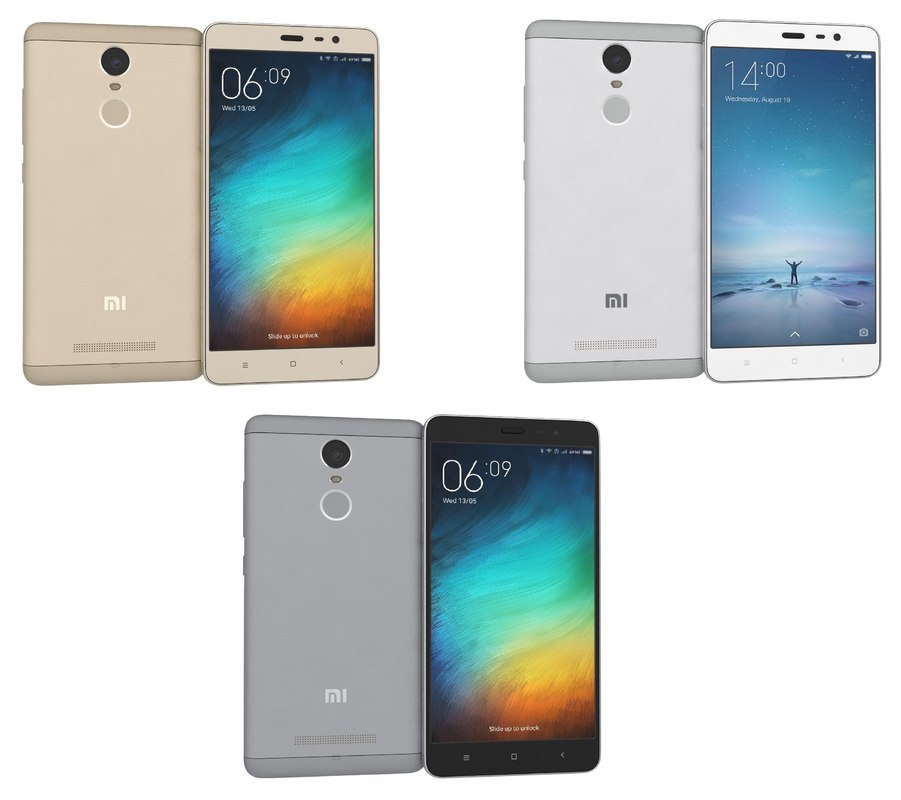 3d xiaomi redmi note 3