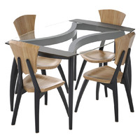 lily custom glass dining table 3d model