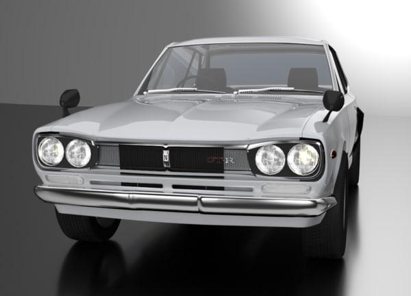 3d 1969 nissan gt-r model
