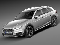 3d model audi 2017 allroad