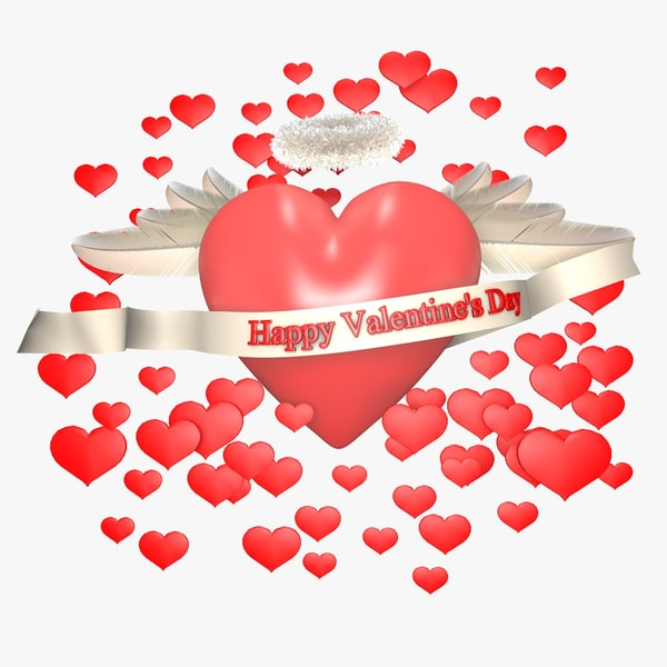 3d model heart valentine day