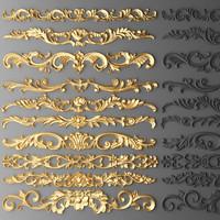 3d max cartouches set