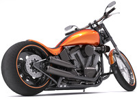 3d model of harley-davidson night train