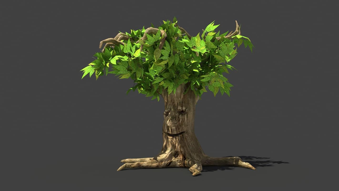3d enchanted tree model