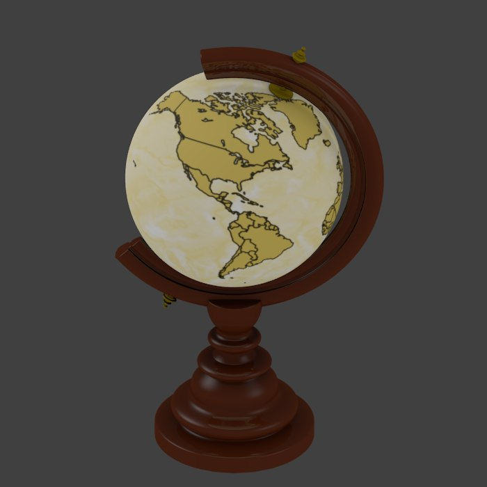 old globe cartographer 3d 3ds