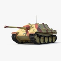 3d model jagdpanther tank destroyer