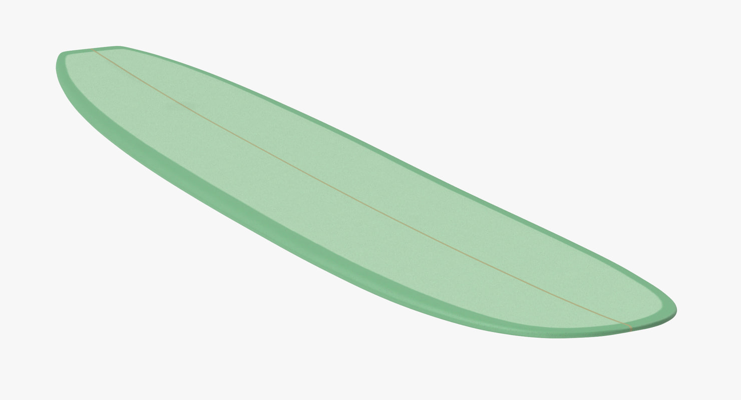 long surf board 3d c4d