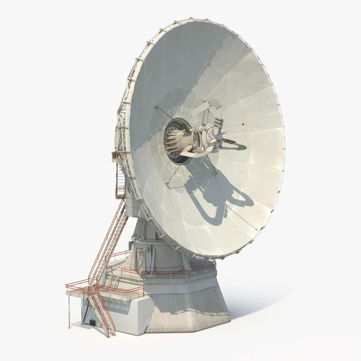 3d model large satellite dish