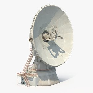 3d model large satellite dish