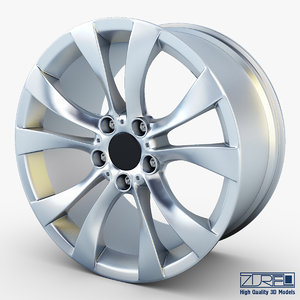 style 227 wheel silver 3d max