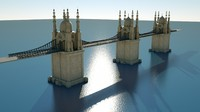 3d historical bridge