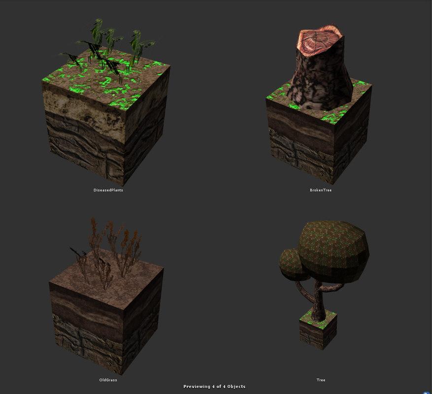 block terrain 3d model