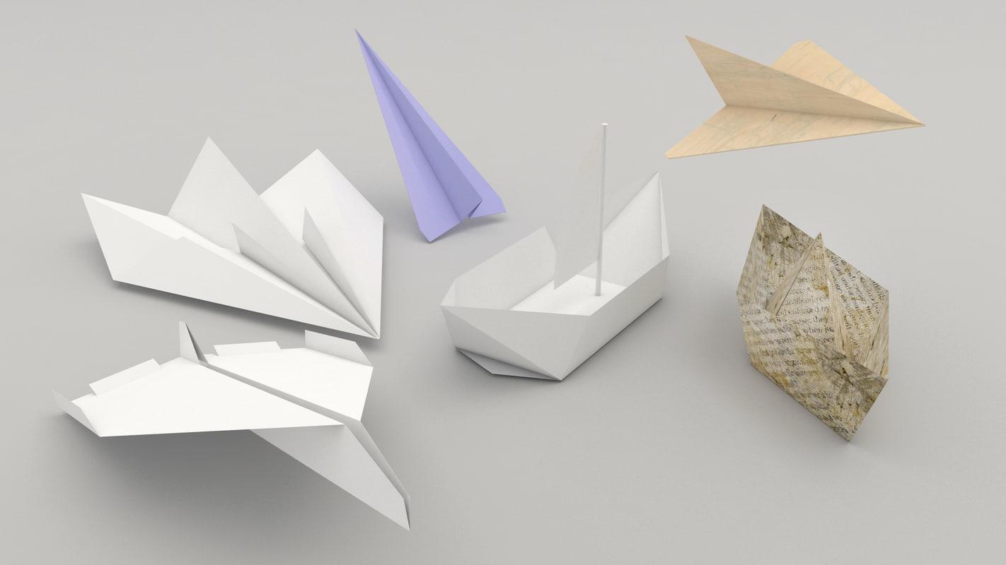 3d origami plane ship