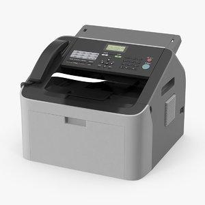 fax machine 3d model