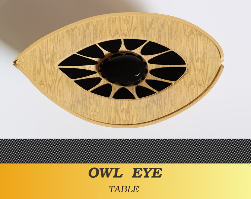 owl eye table 3d obj