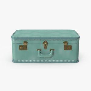 3d model of medium vintage suitcase