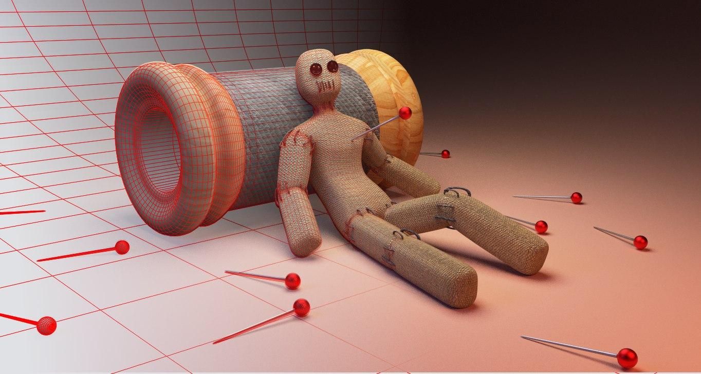 free voodoo doll 3d model