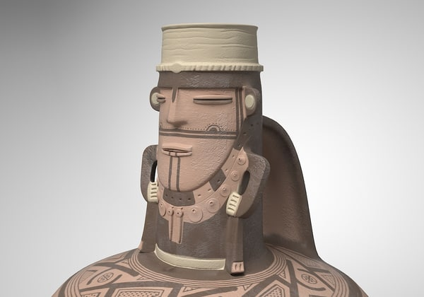 3d model anthropomorphous jar