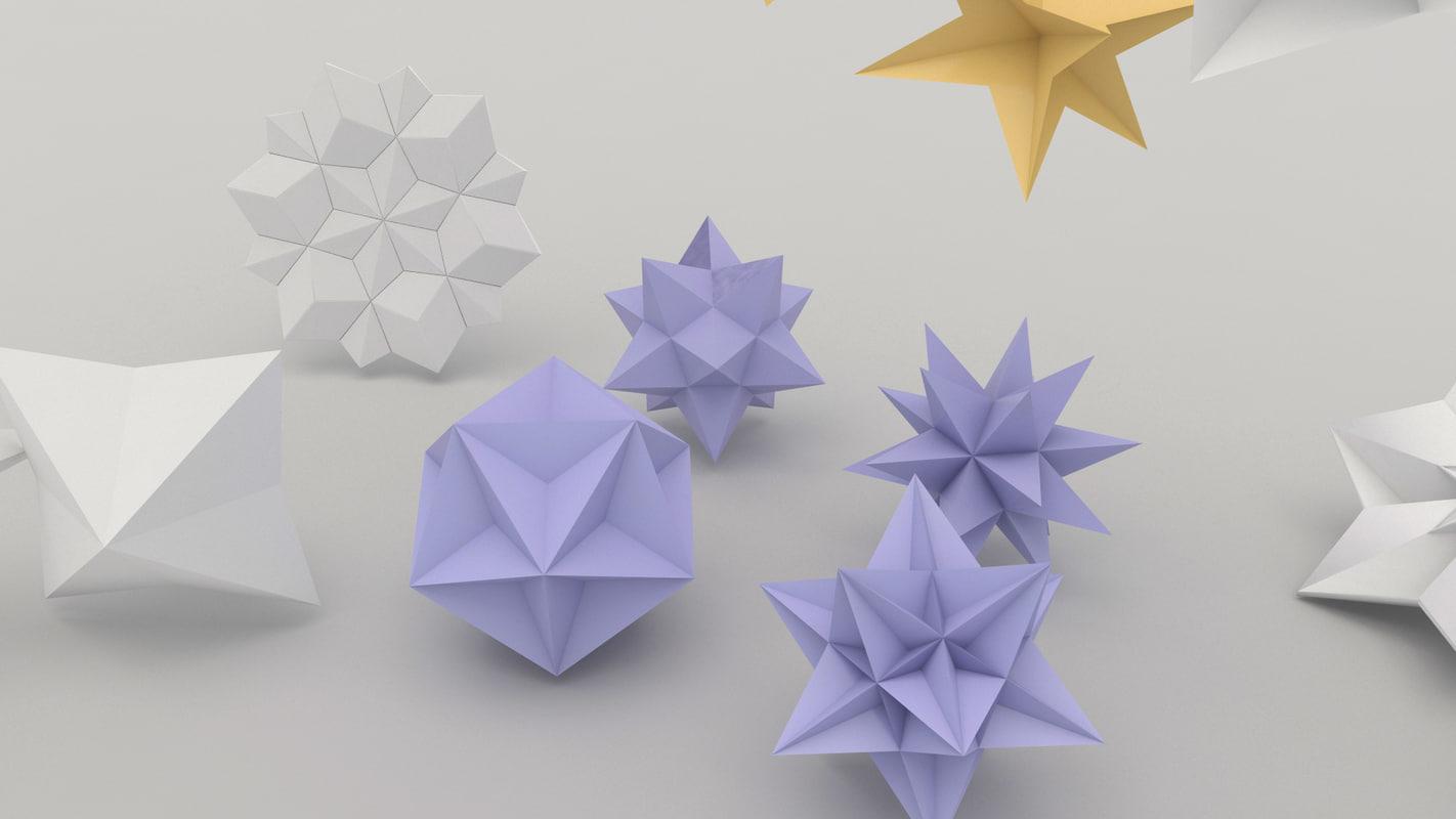 3d model of origami flower mightylinksfo