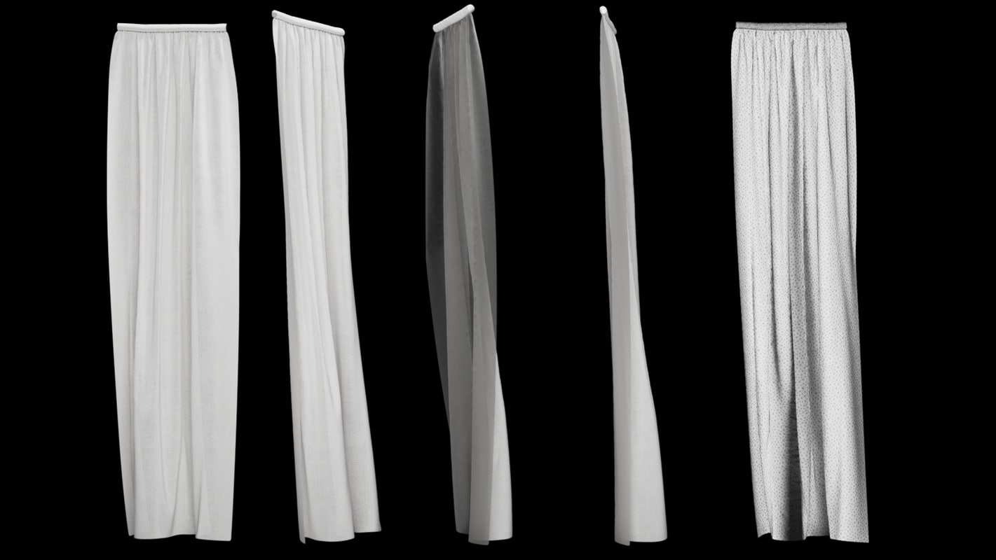 3d curtain version 4 animation model