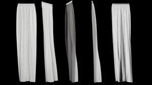 3d curtain version 4 animation model