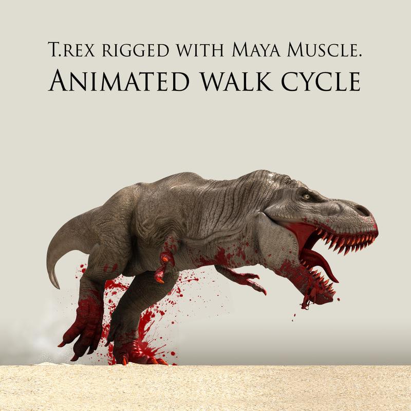 3d t rex model