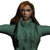 fighter girl 3d obj