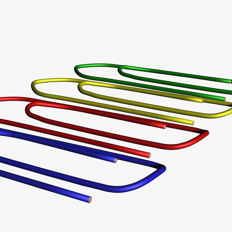 paperclips lightwave 3d model