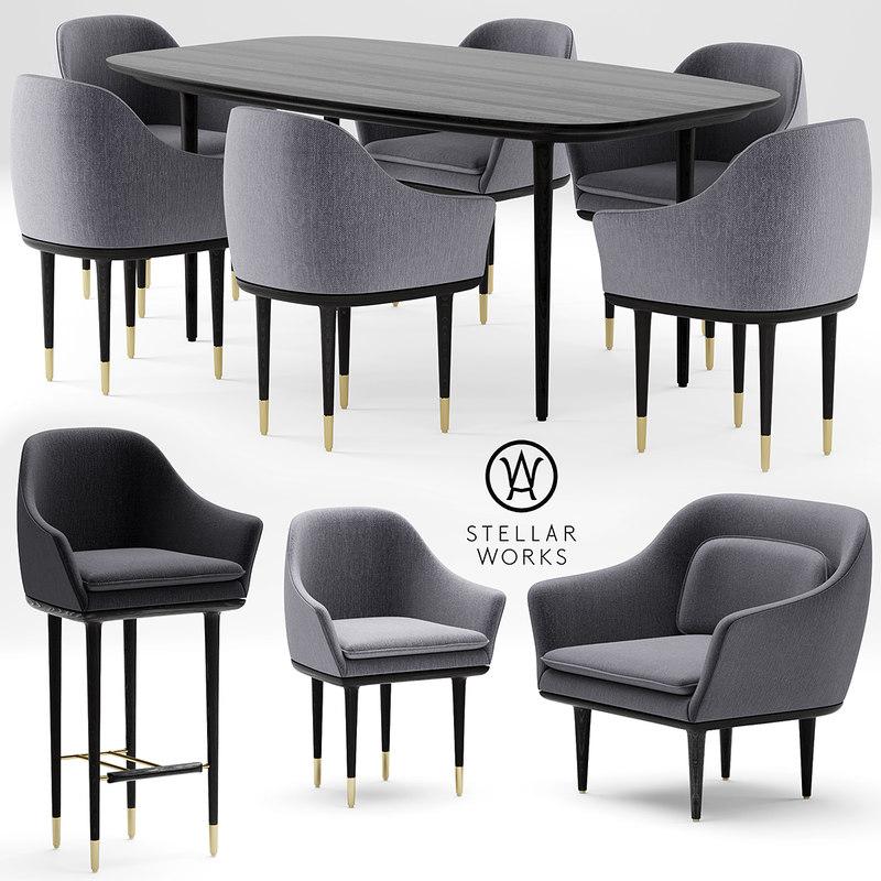chair armchair table max