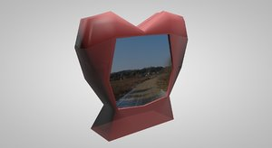 3d model glass valentine photoframe