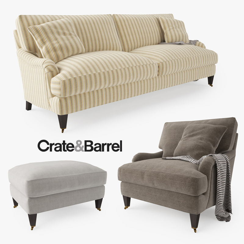 crate barrel essex sofa chair 3d max