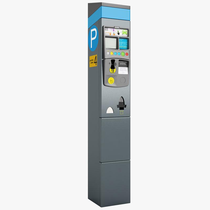 3d model ny parking meter