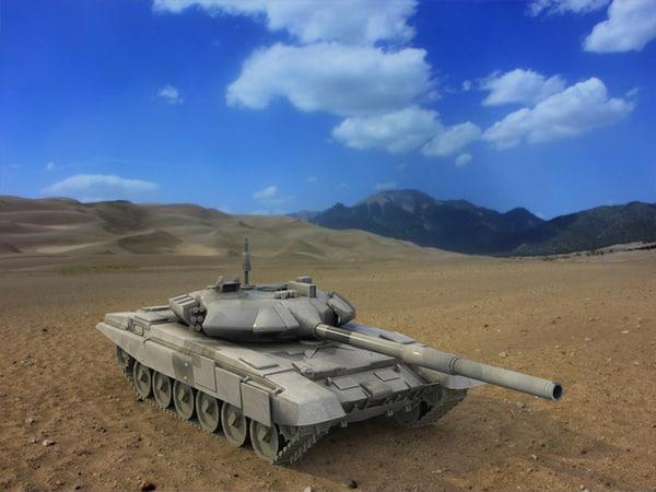 3d 3ds t-90 russian battle tank