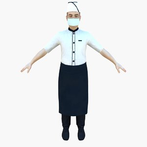 3d model apron mask