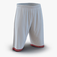Basketball Shorts White
