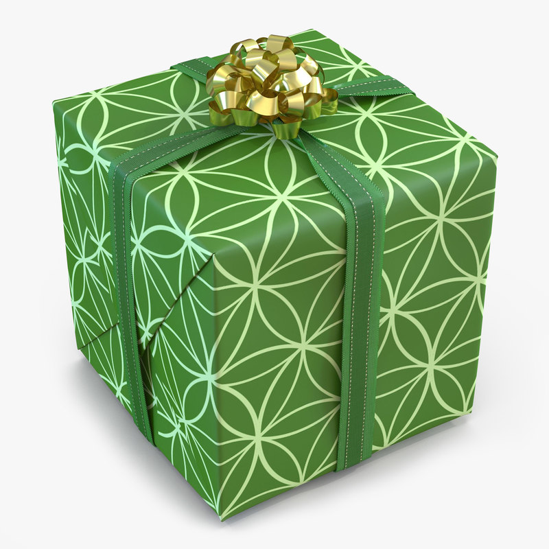 giftbox 2 green 3ds