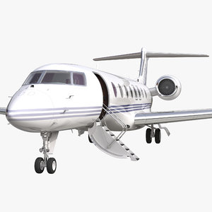 3d gulfstream g650 rigged 2 model